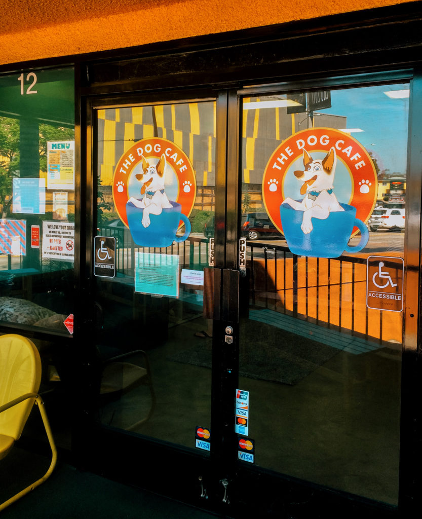 Entrance to the Dog Cafe in Los Angeles