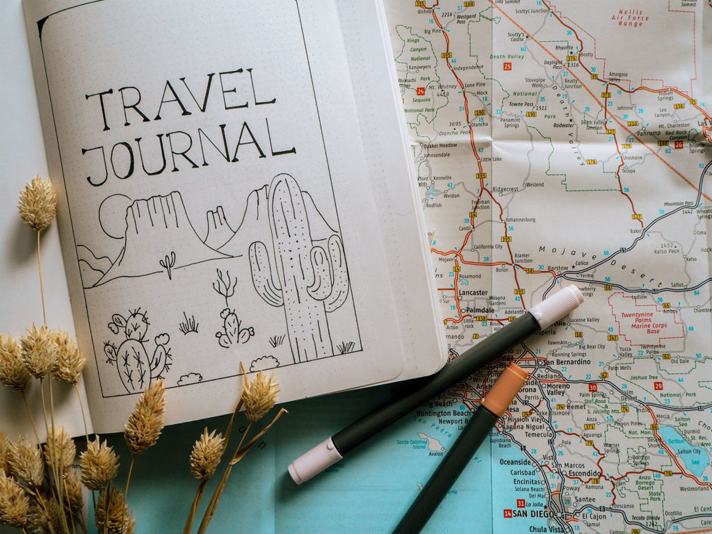 Travel Journal USA Map Title