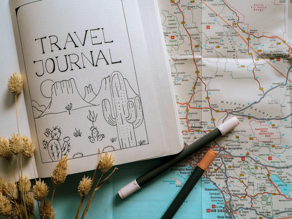 Travel Journal USA Map Title