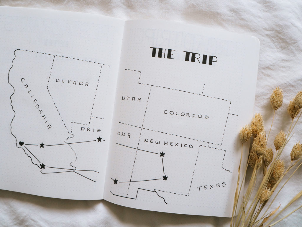 Road trip route journaling