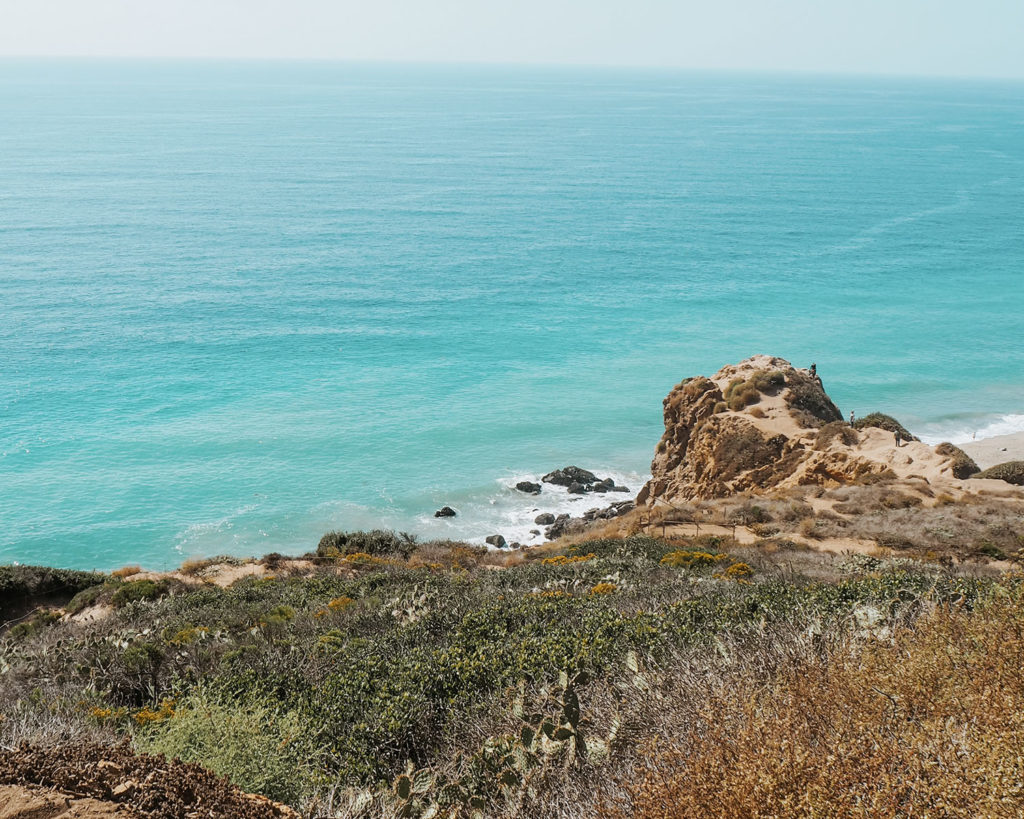 Point Dume View from Cliff over the Pacific Ocean